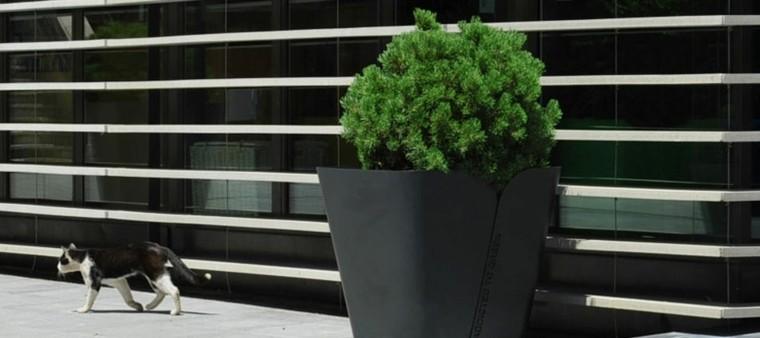jardineras metal grande elegante exterior
