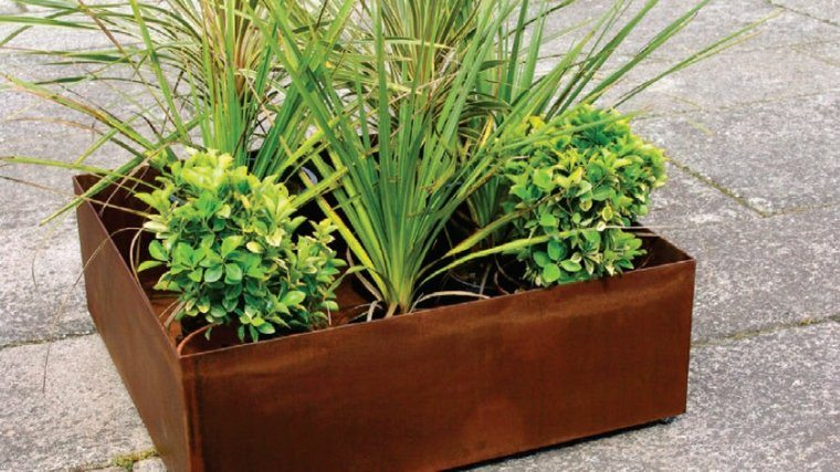 Jardineras inmensamente elegantes y funcionales - Jardin con macetas ...