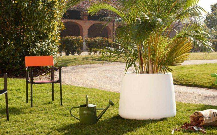 jardineras polietileno blanca jardin tropical