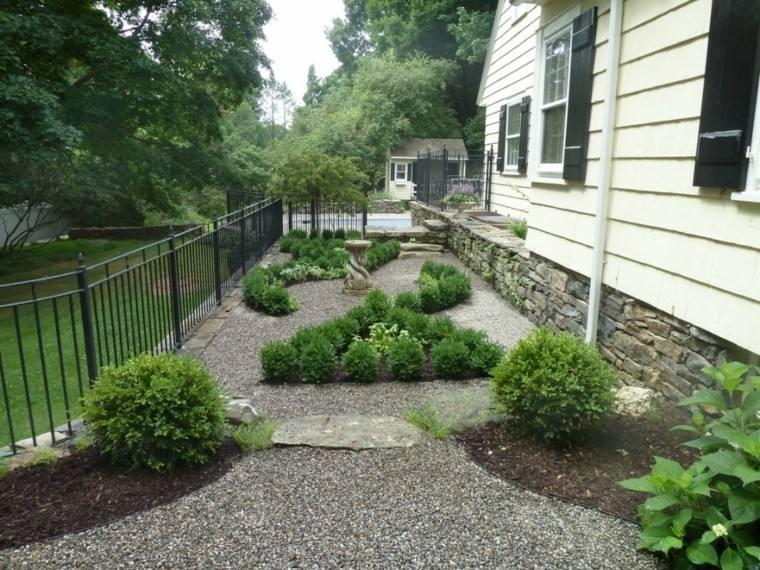 jardines decorados rocas grava