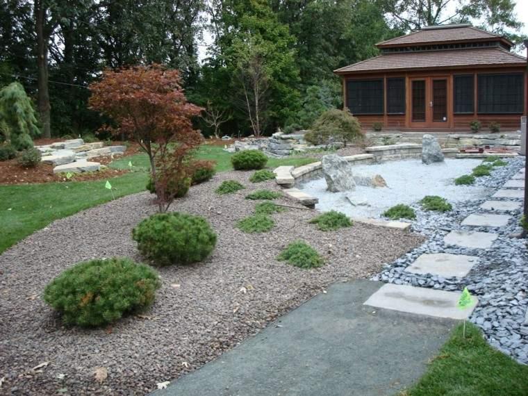jardines japoneses camino piedras grava