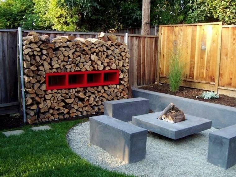 jardines pequeños diseño moderno hormigón