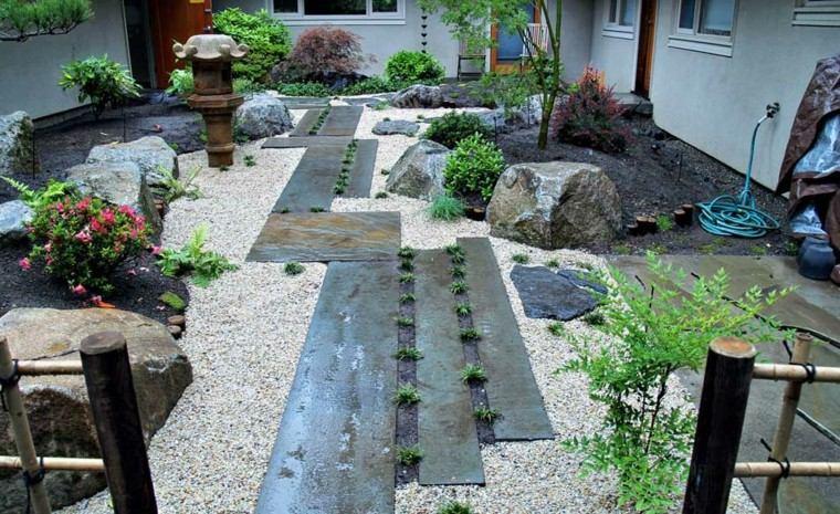 jardines zen diseño moderno grava