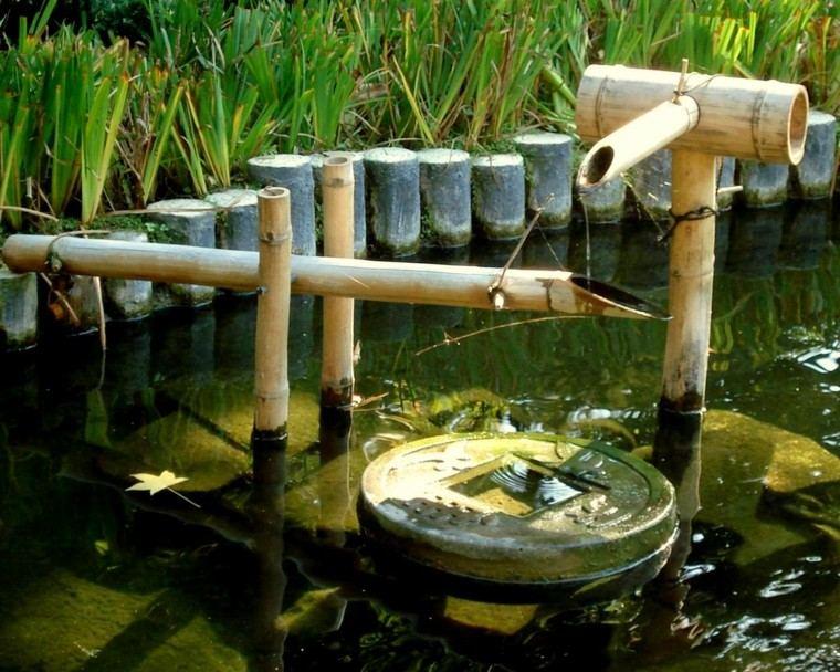 jardines zen estanque agua fuente