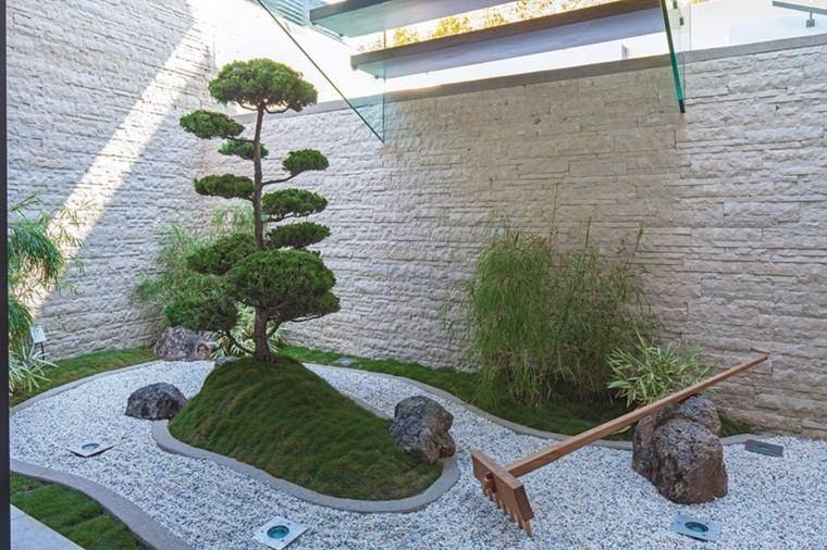 jardines zen estilo oriental diseño