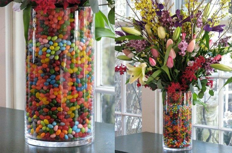 jarron grande decoracion caramelos colores vibrantes