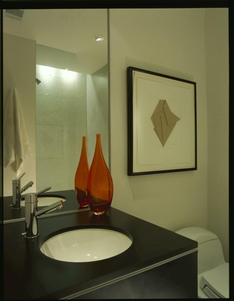 jarron vidrio lavabo baño pastel
