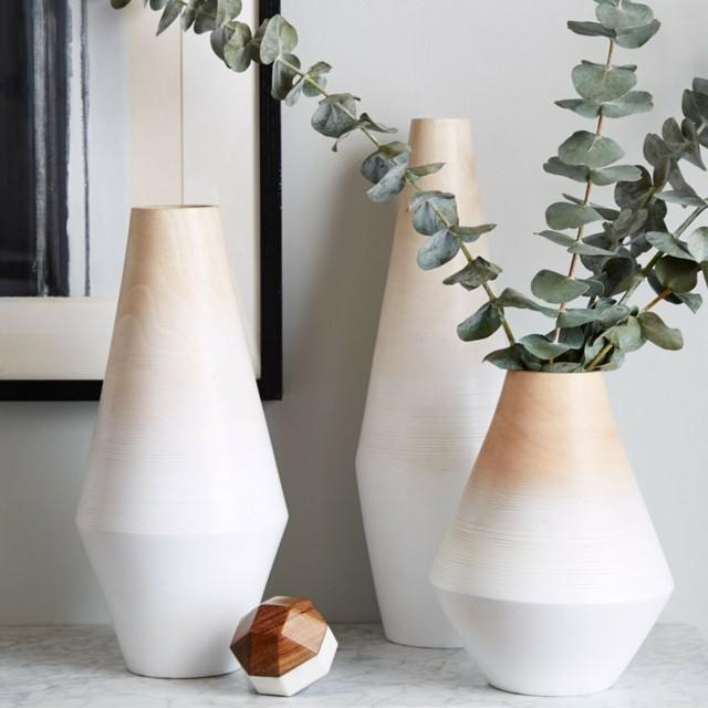 jarrones blanco beige distintas modernos formas