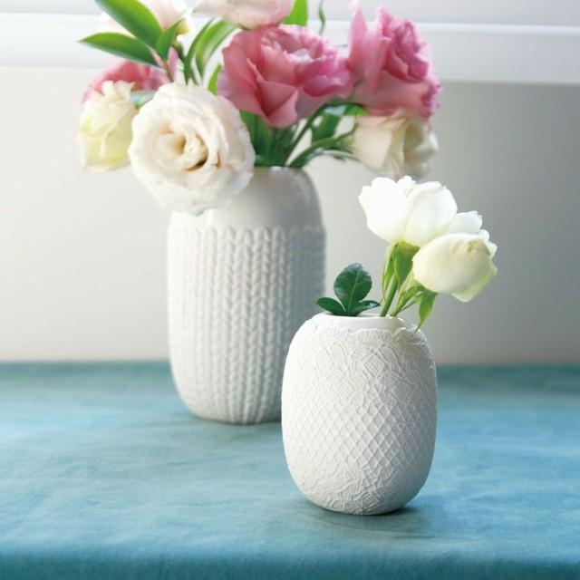 jarrones blancos ideas perfectas moderna rosas