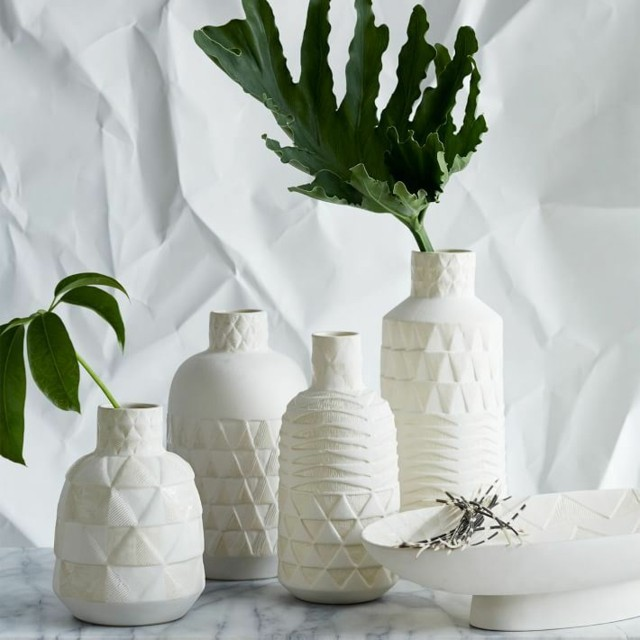 jarrones formas geometricas blancos modernos bonitos