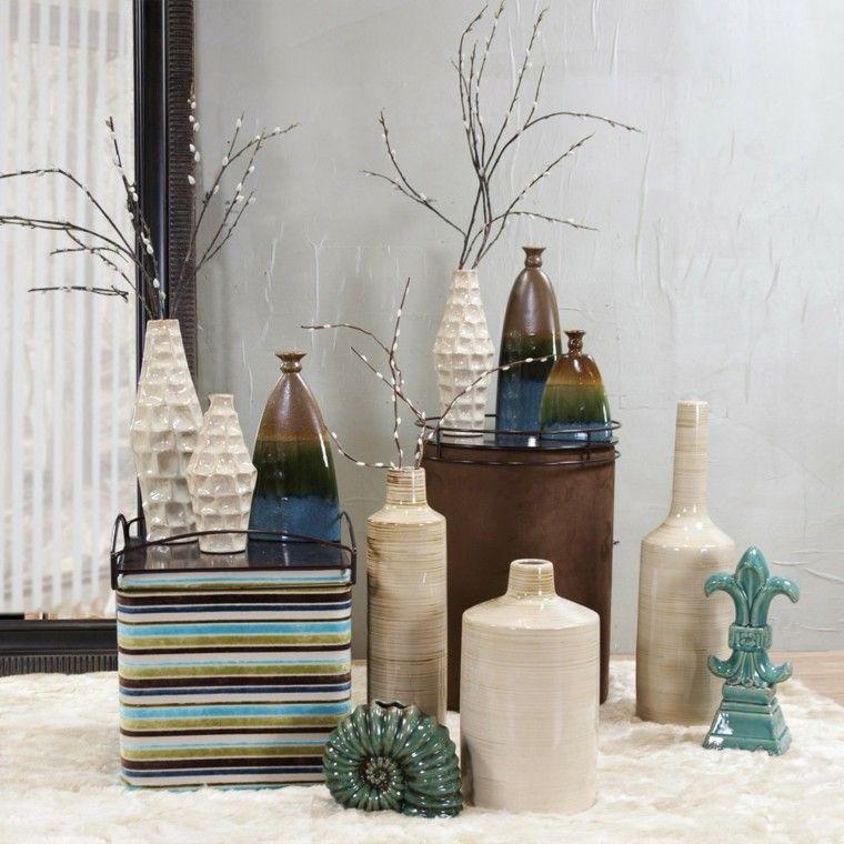 Naturalismo en casa ideas de jarrones grandes - Centros decorativos modernos ...