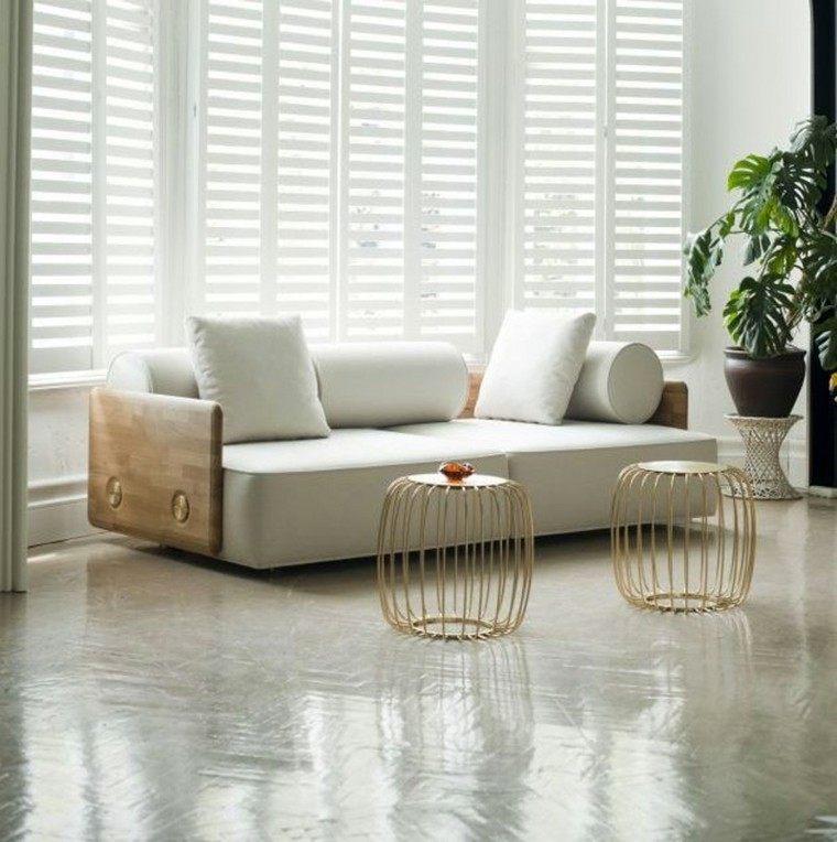 jaula blanco madera mueble moderno