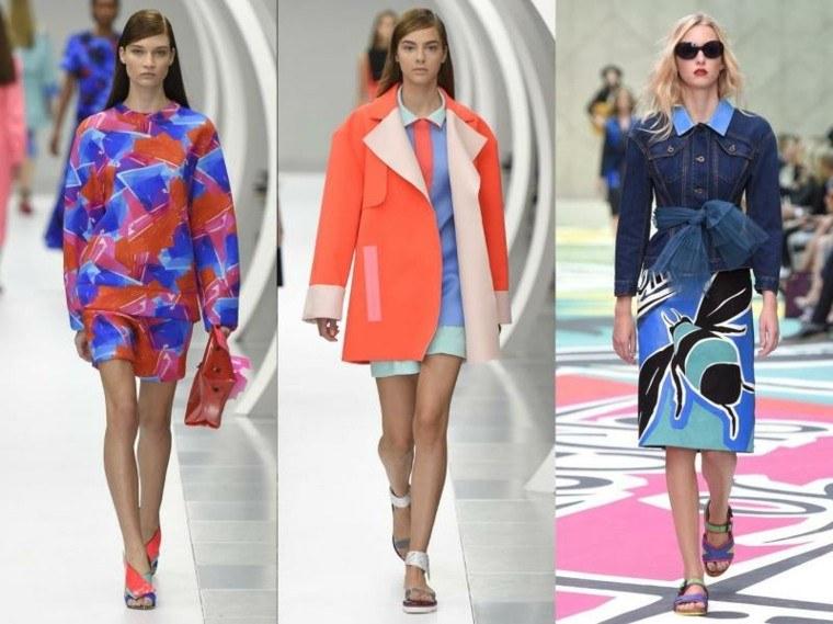 la moda tendencias pasarela colores azules