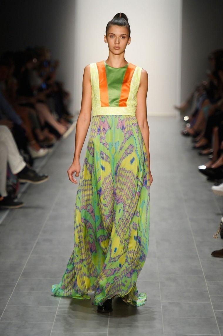 la moda vestido verde colores