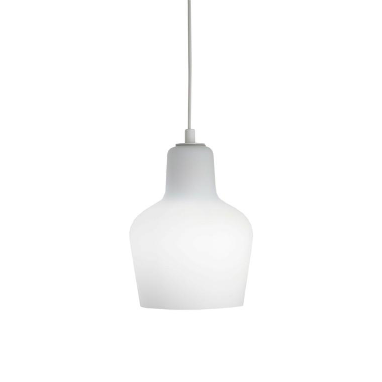 lampara blanca vaso colgando moderna