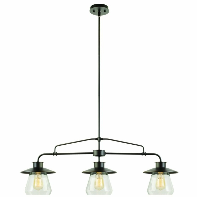 lampara colgando tres bombillas estructura