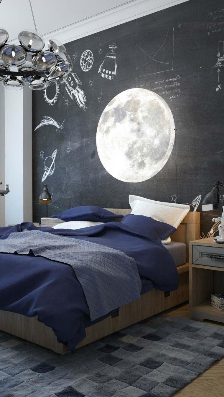 lampara cosmos techo habitacion luna pizarra