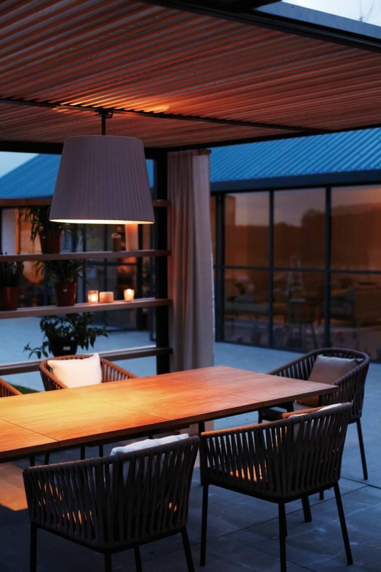 lampara noche decoracion sillas comedor