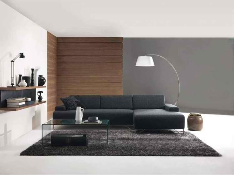 lampara pared madera mesa alfombra
