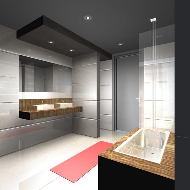 lamparas led lavabo madera diseño estilo