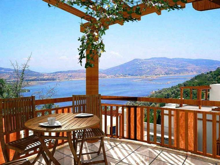 Las terrazas modernas que no te puedes perder for Muebles para terraza en madera