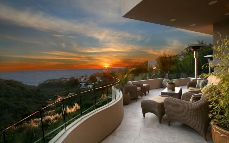 las terrazas vistas maravillosas muebles comodos ideas