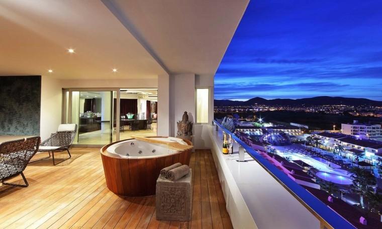 las terrazas vistas moderna jacuzzi abierta ideas preciosa