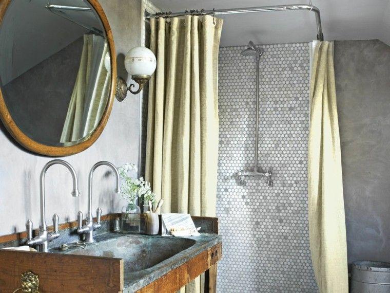 lavabo envejecido oxidado metal madera