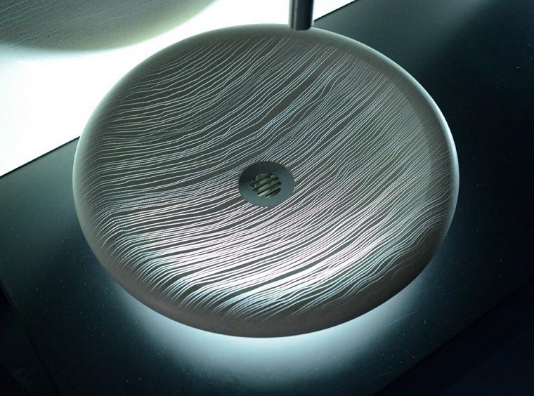 lavabo hormigon tranluciente idea luz original bano