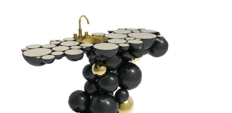 lavabo petroleo perlas lujo