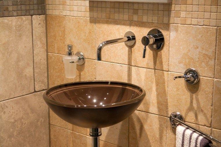 lavabo redondo marron barro
