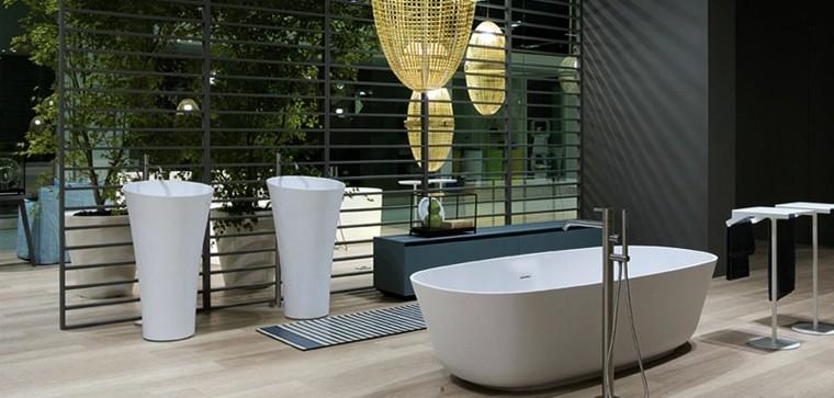 lavabos diseño tubos baño moderno
