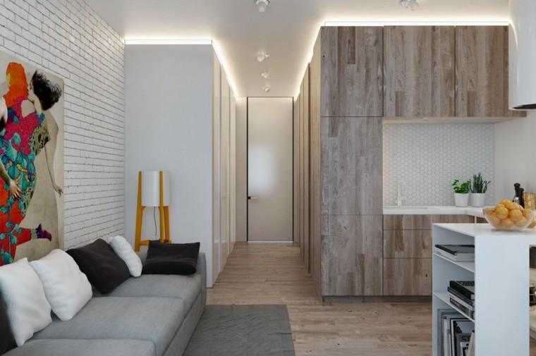 led blanco diseño interior cuadro
