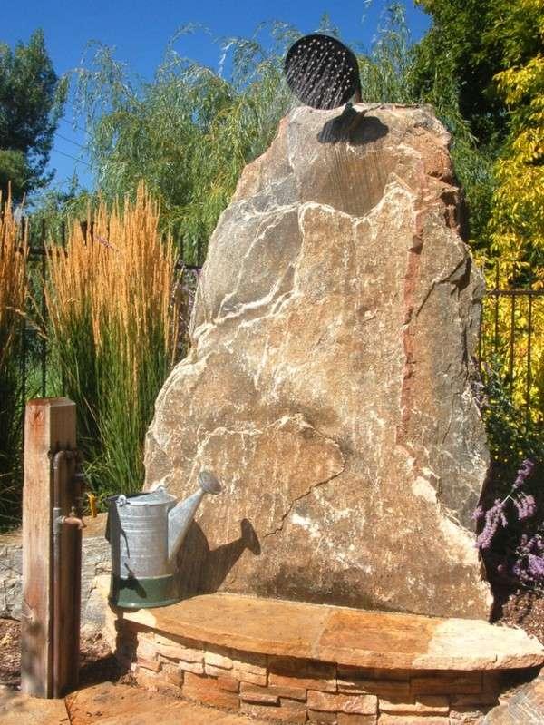ducha piedra roca grande