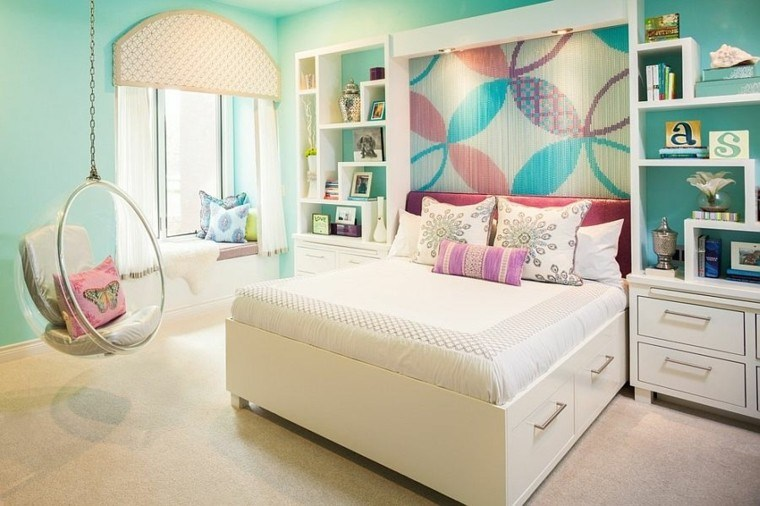Los colores perfectos para la pared de la habitaci n juvenil - Habitaciones decoradas juveniles ...