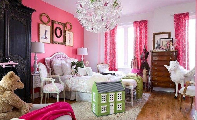 los colores rosa perfecto pared habitacion chica ideas