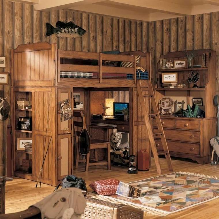litera madera decoracion rustica cuarto