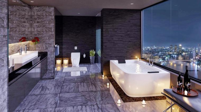 Baños Con Vista Al Exterior:Cuarto de baño de diseño – lujosos y apasionantes