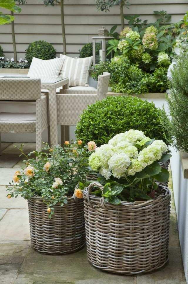 macetas jardin idea interesantes modernos cestos