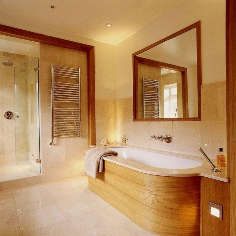 madera bañera led decoracion cubierta muebles