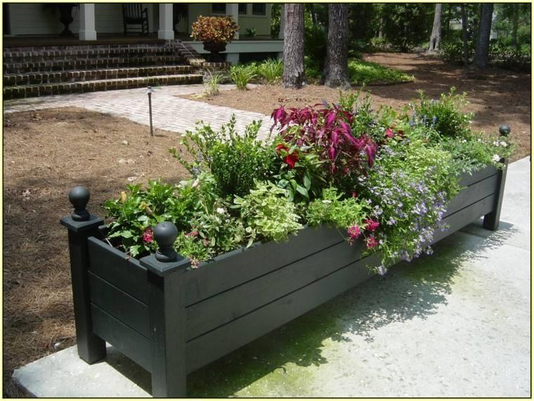 madera caja decoracion flores casa plantas