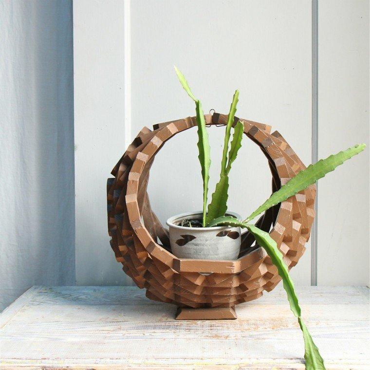 madera colgante planta diseño decoración