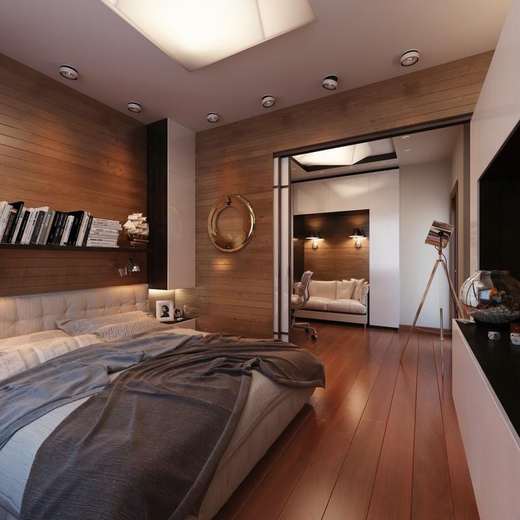 Dormitorios modernos con maderas en la decoraci n - Pisos de bancos en la costa ...