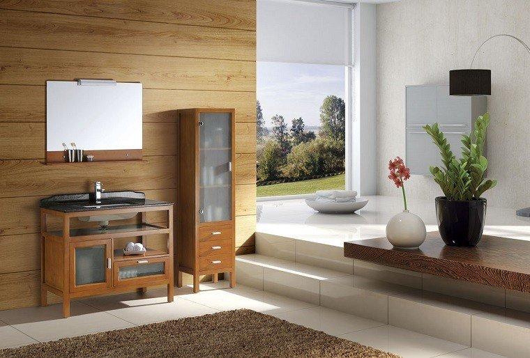 madera estante lavabo toallero muebles