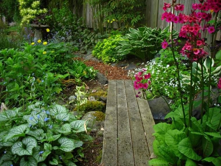 madera mantillo camino diy tablas flores
