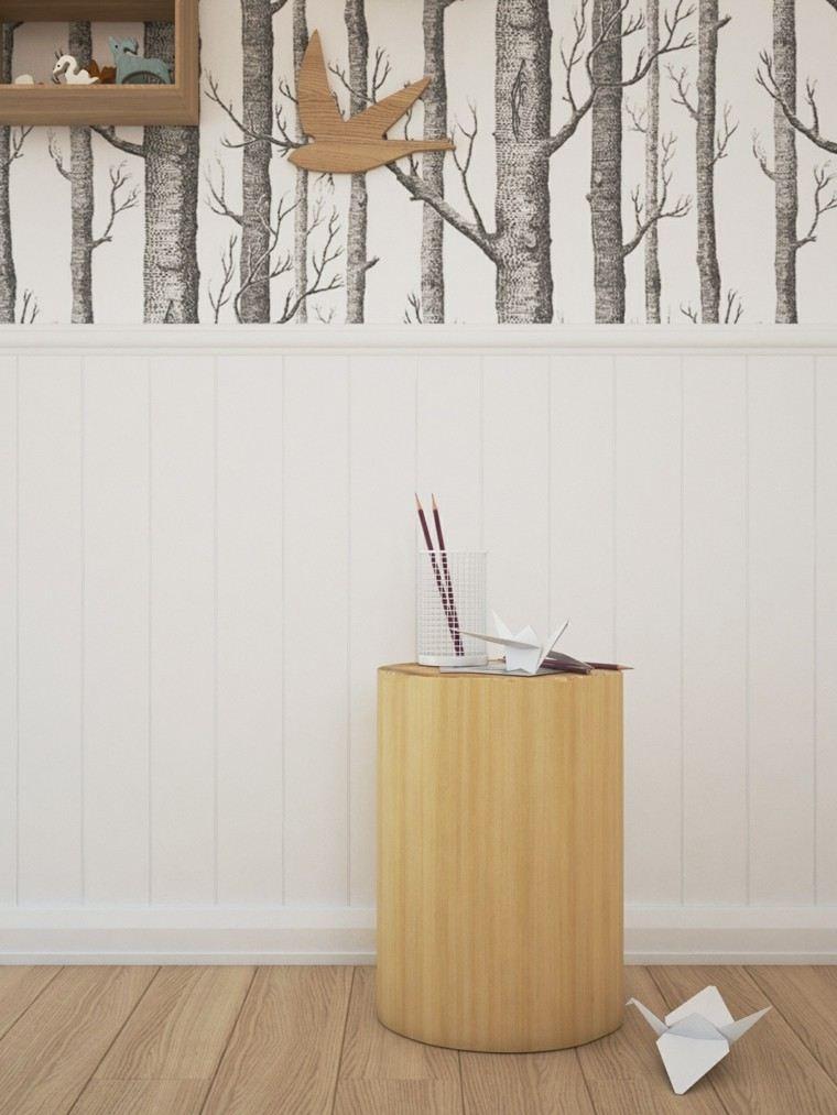 madera pared decoracion estilo juguetes diseño