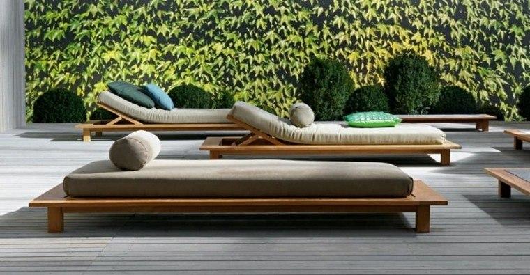 madera piscina arbol diseño cojines