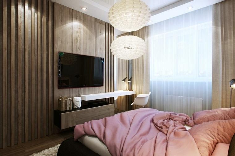 madra pared cama lampara cubierta