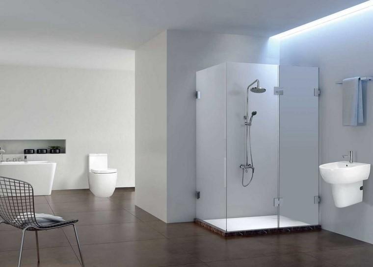 mampara cristal baño contemporaneo estilo ducha