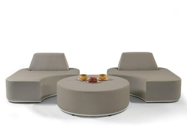 manutti sofas puzle gris redondo